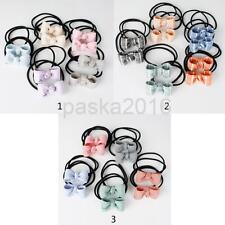 10 Lot Women Girl Elastic Hair Ties Band Bow Hairbows Ponytail Holder Headbands