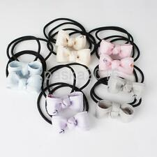 10 Lot Bulk Elastics Hair Ties Band Bow Hairbows Ponytail Holder Ring Headband