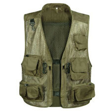 Multi Pockets Fishing Mesh Vest Travel Waistcoat Tactical Jacket Hunting Costume