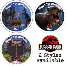 Jurassic Park Cupcake Toppers Luxury Icing Sheet, Wafer Paper, Any NAME & TEXT