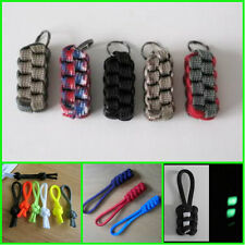 Paracord Lanyard Zip Zipper Pulls Glow In Dark - Many Styles & Colours to Choose