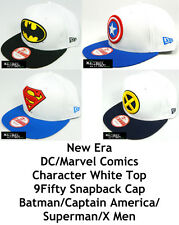 NEW ERA DC/MARVEL COMICS CHARACTER WHITE TOP 9FIFTY SNAPBACK CAP - ASSORTED