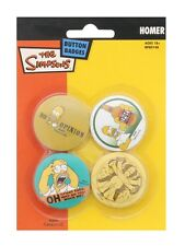 New The Simpsons Homer Badge Pack