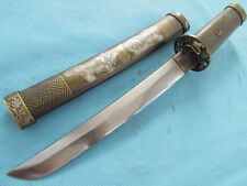 Hand Forged Japanese Folded Blade Short Sword Dagger Samurai Tanto