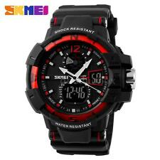 Skmei Mens Military Quartz Watch Analog Digital Shockproof Sport Wristwatch Z9H9