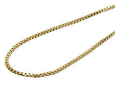 Men's Real 10K Yellow Gold Hollow Box Chain Necklace 2.5 MM 18-26 inches