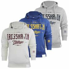 Crosshatch Pullover 'Latties' Mens Hoodie Sweatshirt Hooded Embroided Top