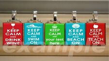 """Keep Calm and__On """"U Pick ANY"""" Scrabble Tile Pendant Necklace Charm OR Keychain"""