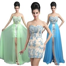 Removable Skirt Evening Cocktail Women Gown Lace Prom Homecoming Dresses 14 6 12