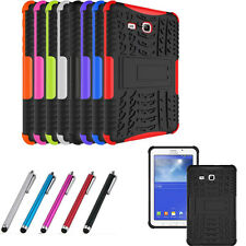 Duty Hybrid Rugged Tire Shockproof Rubber Cover Case For iPad Samsung Tablet
