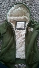 Abercrombie and Fitch furry hoodie zip up small