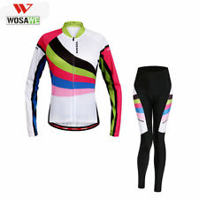 Cycling Bicycle Sports Summer Clothing Women Suit Bike Long Sleeve Jersey+Pants