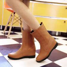 2016 Women's Fashion Synthetic Leather Shoes Flat Heel Ankle Boots US All Size