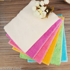 1 Pc Bamboo Fiber Kitchen Dish Cleaner Cloth Absorbent Terrycloth Dish Towels