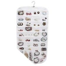 80 Pocket Jewelry Hanging Storage Organizer Holder Earring Bag Pouch Display New