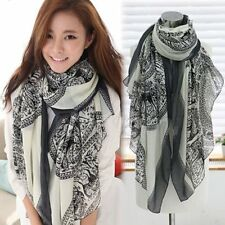 New Pretty Long Soft Women Fashion Chiffon Scarf Wrap Shawl Stole Scarves 4color