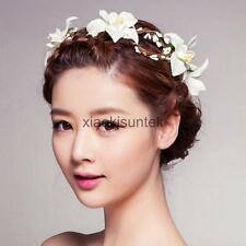 Boho Women Wedding Flower Garland Forehead Hair Head Band
