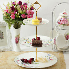 1set New 3 or 2 Tier Cake Plate Stand Handle Fitting Hardware Rod Plate Stand JR