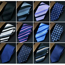 Men Classic Business Striped Polka Dots Neck Tie Checks Floral Casual Neckties
