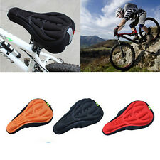 Soft Cushion Cycling Bicycle Silicone Seat 3D Pad Cover Bike Saddle Gel Saddle
