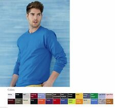 Gildan NEW Adult Ultra 100% Cotton Long Sleeve T-Shirt 2400 Mens Size S-3XL Tee