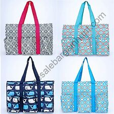 Organizer Utility Tote Shoulder Bag Basket Beach Pool Shopping Laundry Car Tote