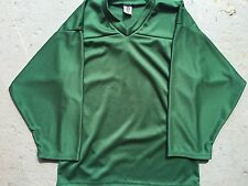 DARK GREEN Authentic / Midweight BLANK Mens Boys League Hockey Practice Jersey