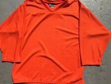 ORANGE Authentic Midweight BLANK Men Youth League Travel Hockey Practice Jersey