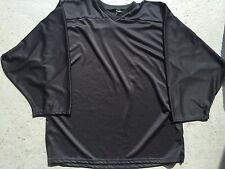 BLACK Authentic Midweight BLANK Men Youth Travel League Hockey Practice Jersey