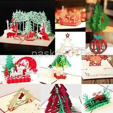 3D Pop Up Blessing Christmas Greeting Card Christmas Valentine 11 Types