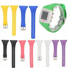 Silicone Watch Band Wrist Strap Metal Buckle For POLAR FT4 FT7 HR Sport Watch