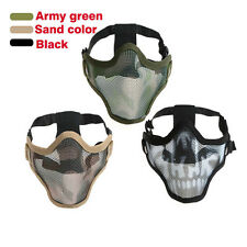Camouflage Metal Mesh Skull Tactical Airsoft Paintball Protective Half Face Mask