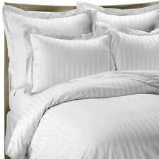 Hypoallergenic 100% Egyptian Cotton Fitted Sheet Striped 600 Thread Count
