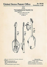 1967 Vox Phantom Vi Special Guitar Gifts For Musicians Patent Art Posters Print