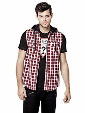 GUESS Men's Daviot Sleeveless Plaid Shirt