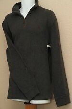Polo Ralph Lauren French Ribbed 1/4 Zip Sweater Dark Gray New NWT