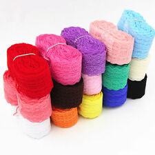 5Colors Wholesale 10 Yards/Roll Embroidered Net Lace Trim Ribbon 4.5cm