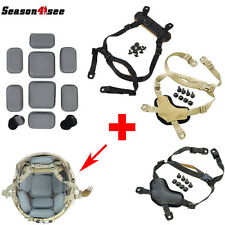 Tactical MICH Helmet Retention System Chin Strap + Protective Spacer Pads Gear