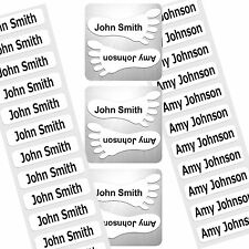 BACK TO SCHOOL PRE-CUT IRON-ON / PEEL N'STICK / SHOE NAME LABELS AND TAGS