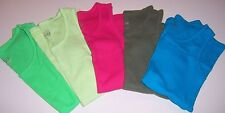 JUSTICE~Pink/Green/ArmyGreen/Teal Ribbed Tank Tops~GIRLS 10/12~Wide strap~UPICK1
