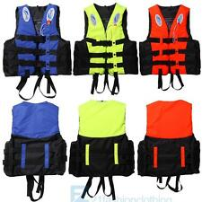 S-XXXL Universal Adult Life Jacket Polyester Swimming Boating Ski Vest+Whistle
