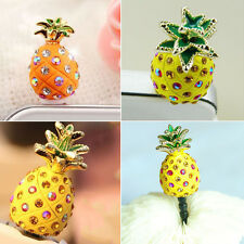 Crystal Pineapple Earphone Jack Anti Dust Plug Stopper for CellPhone 3.5mm 1WA