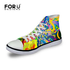 Durable Canvas Sneakers Lace-up Athletic High Top Womens mens Teenages School