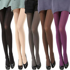 Stretch Tights Opaque Pantyhose Solid Color Thicken Women Stockings Socks Footed
