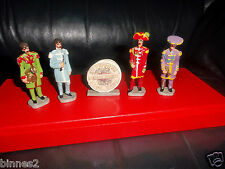 """THE BEATLES """"LEAD"""" HAND PAINTED FIGURES SGT.PEPPER'S LHCB """"GOOD SOLDIERS""""  FAB!"""