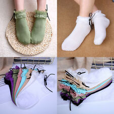 1 Pair Princess Girl Cute Women's Vintage Lace Ruffle Frilly Low Cut Ankle Socks