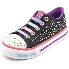 Twinkle Toes By Skechers S Light Shuffles Twirly Toes Youth Black Sneakers