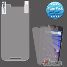 XM-Twin Pack Clear LCD Screen Protector Films For MOTOROLA Moto G(3rd gen.)