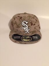 Chicago White Sox MLB Men Hat New Era 59Fifty Desert Camo Pop Cap Made in USA