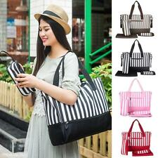 Stripe Mother Mummy Tote Shoulder Bag Handbag Messenger Baby Changing Diaper Bag